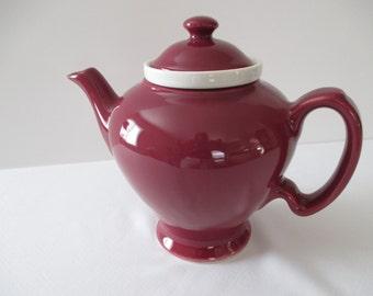 Vintage McCormick Teapot - Burgundy