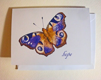 Butterfly Hope Note Cards - package of 10 note cards