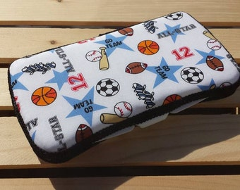 Baby Wipes Case, Travel Wipes Case Sports Print