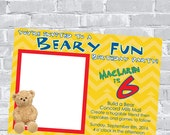 Build A Bear Birthday Party Invite - Custom wording and color Invite