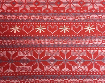 LIMITED EDITION - Fair Isle Cotton Knit - Red