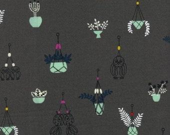 Cotton + Steel - Rashida Coleman Hale - Macrame - Hang It Up Grey