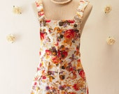 2015 CLEARANCE SALE - Women Shortalls Floral Shortalls Summer Overall Cute Clothing - Size XS