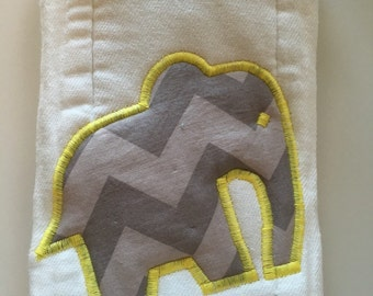 Super Absorbent Burp cloth- elephant