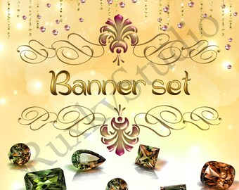 Shop Banner Set shop icon,new etsy cover/banner,avatar/profile picture -jewelry,crystals,gems