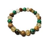 Picture Jasper ctirine & variscite stretch energy bracelet