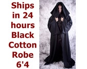 Adult Hallowen Costume Hagrid Star Wars black cotton 6'4 Sith Lord Halloween Costume, harry potter Anakin Skywalker Cosplay Robe