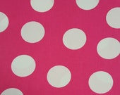 "60"" Wide, Pink Fabric, Pink Polka Dot Fabric, White Polka Dots, Pink and White Fabric, 012019"