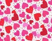 Hearts, Pink Fabric, Valentine Hearts, Pink Foral Fabric, Pink Fabric, Valentine Fabric, 287242