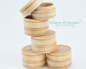 "15 Small Pill Box - Unfinished Wooden Pill Box - Miniature Wooden Box - Size 1 9/16"" diameter"