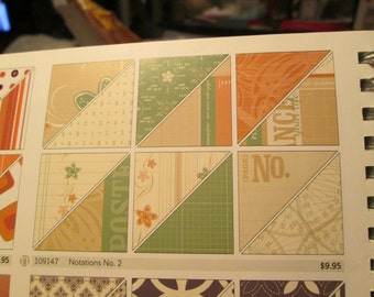 NOTATIONS #2 - Designer Series Paper - Stampin Up Retired