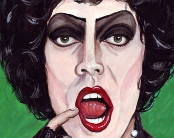 Frank n Furter print of original watercolor painting 5x7 Rocky Horror