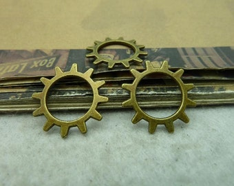 50pcs 20mm antique bronze gear charms pendant C6178