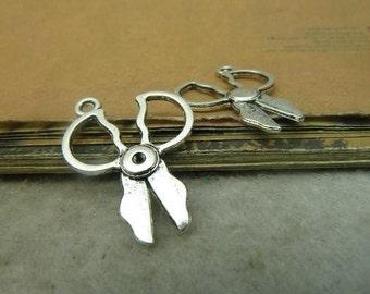 30pcs 20*27mm antique silver shear charms pendant  C4850