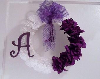 Initial Wreath//Monogram Wreath//Personalized Wreath//Door Decor