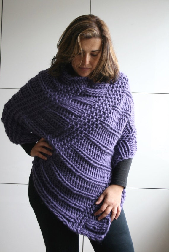 KNITTING PATTERN boho poncho knitting pattern oversized wrap