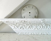 Vintage White Salvage Wood Architectural/ Shelf Shabby Chic