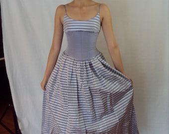 PRINCESS COSTUME - Gunne Sax Lavender Corset Gown 1980s XS/S