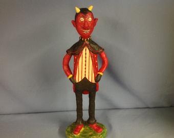 Paper mâché Halloween devil figure