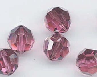 24 gorgeous Swarovski crystals - discontinued color - art 5000 - 6 mm - rose satin