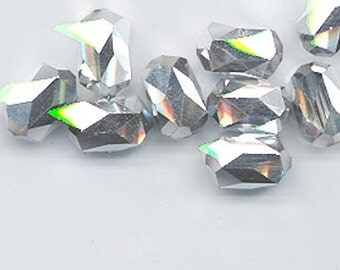 Six pieces rare vintage Swarovski style - Art. 5204 - 12 x 8 mm - comet argent light