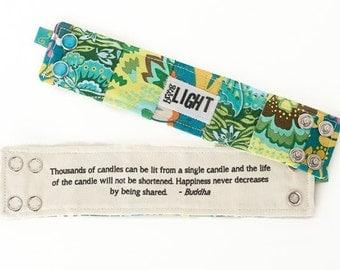 Inspirational Bracelet, Blessing Band™, Secret Message Bracelet, Bring Light Cuff, Inspirational Jewelry, Quote Bracelet, Inspiration Cuff