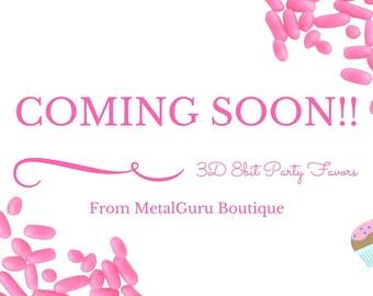 COMING SOON To MetalGuru Boutique - 8bit 3D Birthday Party Favors