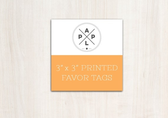 Add on -->  Favor Tag Printing to any favor tag design