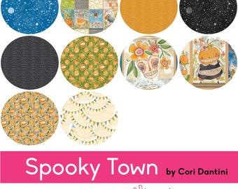 Spooky Town - Fat Quarter Bundle with Full Panels - Cori Dantini for Blend Fabrics - STFQP - 10 prints