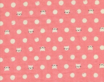Cat Lady - Friskers in Pink - DOUBLE GAUZE - 2030-13 - Sarah Watts for Cotton + Steel - 1/2 yard