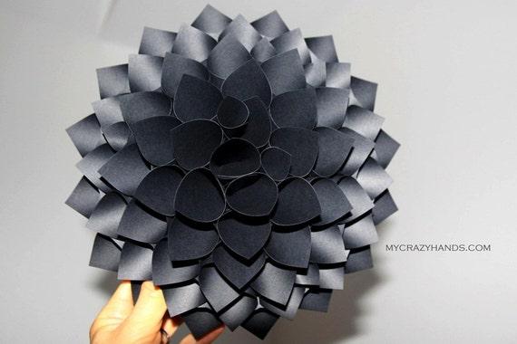 Paper Bag Wall Decor : Texture paper dahlia wall art by mycrazyhands