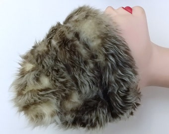 Small vintage fur pointed pillbox hat sold at Lord & Taylor
