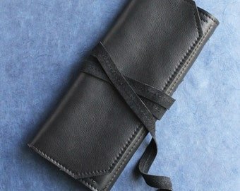 Leather Jewelry Travel Case, organizer, gift idea, jewelry roll up