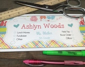 School Envelopes for Kids - Girly - Argyle - hearts - floral - bright colors