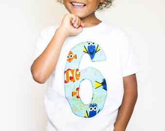 Finding Dory Birthday Shirt, Boys birthday shirt, girls birthday shirt, Finding Dory Birthday, Birthday Shirt, Finding Dory Party,Dory Party