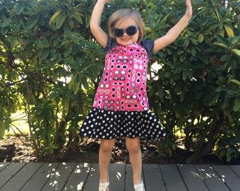 Toddler Peasant Dress, Sunglasses Dress, Toddler Dress, Girl Peasant Dress, Little Girl Dress, Girl Dress, Girl Clothing, Summer Dress