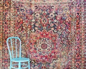 Magnificent Rare 1850-1880's Antique Persian Dorokhsh Rug
