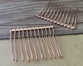 20 Pcs  38mmx45mm rose gold color Hair Combs (12teeth)