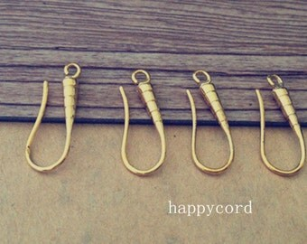 10pcs 8mmx20mm gold color (copper) ear hooks Earrings Accessories