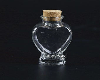 2pcs glass bottle pendant 63mmx76mm