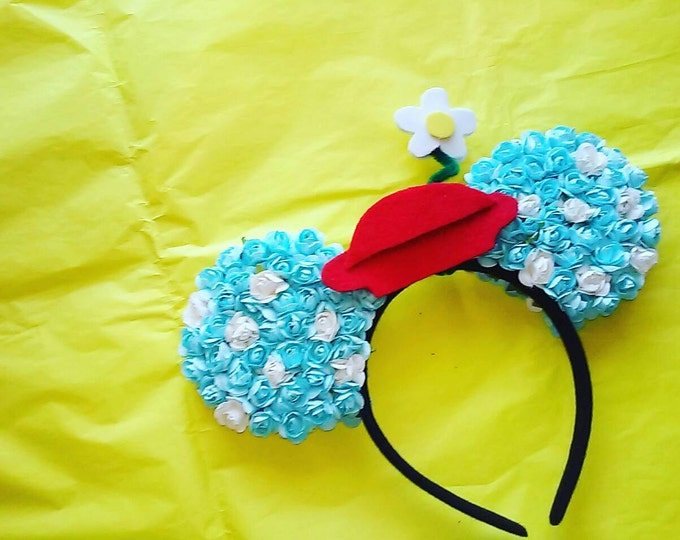 Floral Steamboat Minnie ears