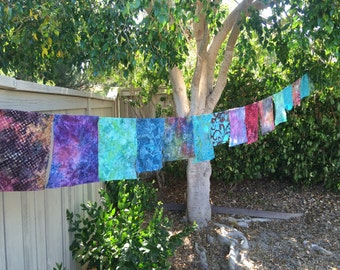 Hippie prayer flags for your yard, home, wedding- Made to Order