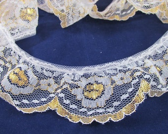 Gold & White Lace - 3 1/2 yards