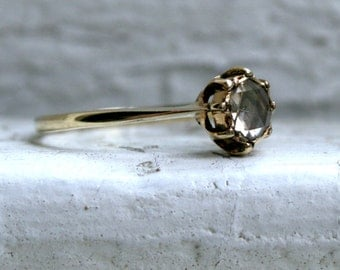 RESERVED - Stunning Antique Diamond Solitaire Engagement Ring in 14K Yellow Gold - 0.40ct.