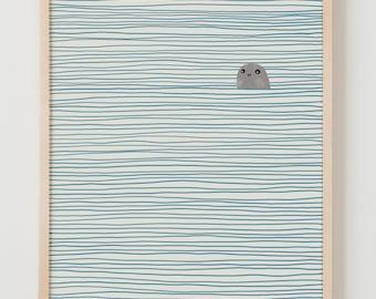 Fine Art Print.  Seal.  January 28, 2013.