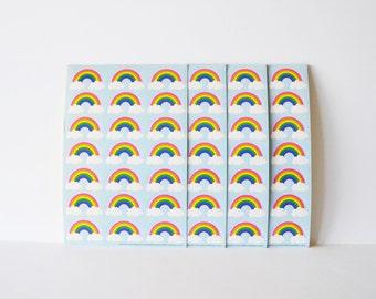 Rainbow Stickers Envelope Seals Wedding Seals 96 Rainbow Decals Scrapbooking Stickers Reward stickers