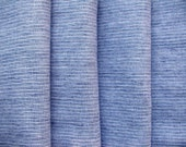 Light Blue--Garment Weight--Fine striped linen for shirts, clothing, bedding--Soft and Delicate, very Pleasant--DIY projects