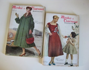 French Modes et Travaux magazines from 1956