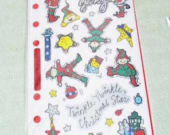 Elf Christmas Stickers by Stickopotamus