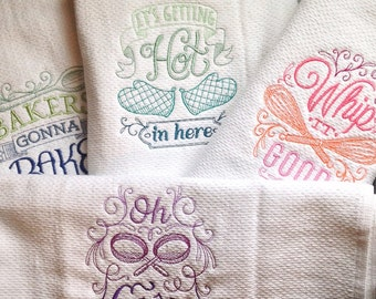 Dish towel, funny quotes, housewarming gift, host or hostess gift